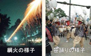 豊川夏まつり 綱火 笹踊り