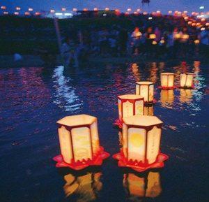 米津の川まつり 万灯