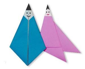折り紙 織姫と彦星