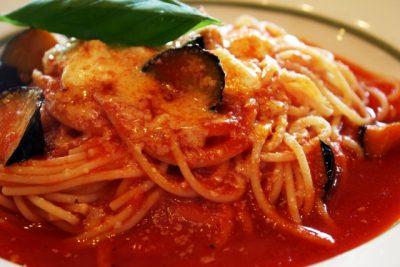 茄子とチーズのトマトソース