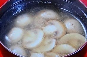 マッシュルーム 味噌汁